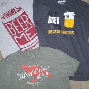 Other - Beer T-shirts  Bundle with free beer swag